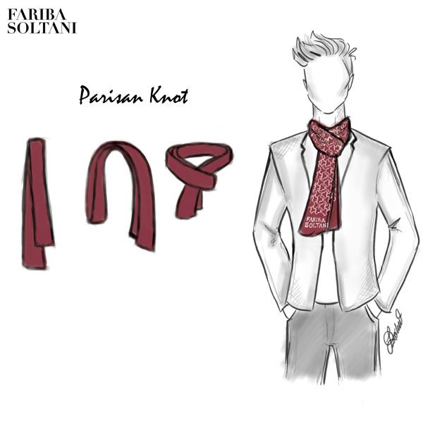 tie scarf - Persian knot