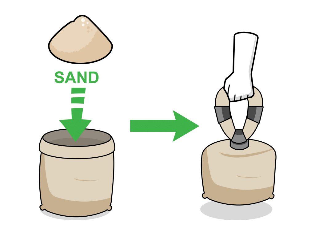 homemade gym sandbags