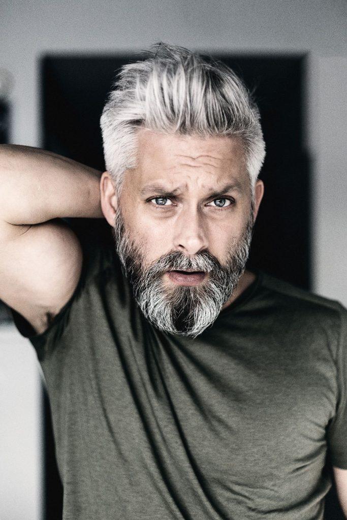 grey hairstyles men