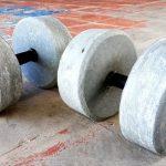 homemade gym dumbbell