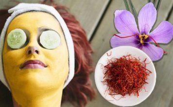 homemade saffron face mask
