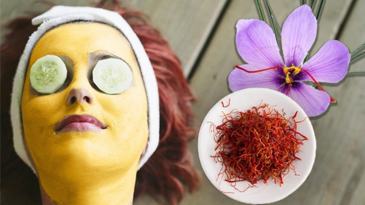 homemade saffron face mask